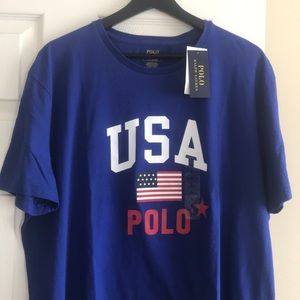 Polo Ralph Lauren USA Tee Shirt Blue Size L